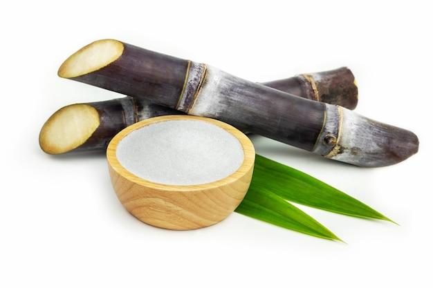 Sugar cane isolate on white background