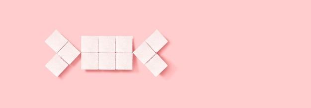 Кубики сахара в форме конфет