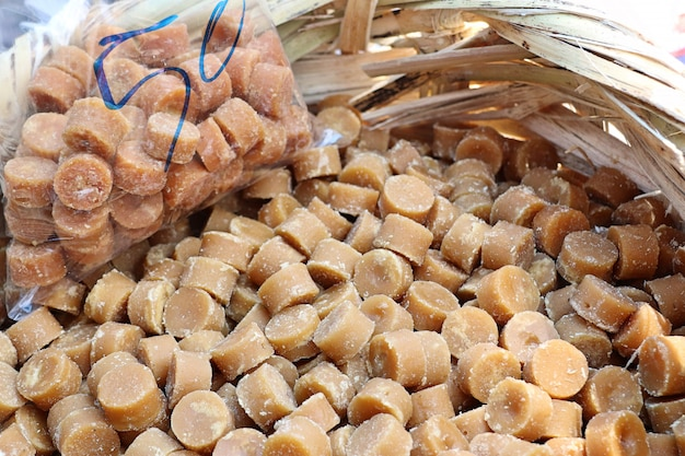 Sugar cubes in the market