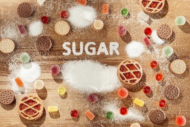 無糖のケーキ。ダイエット食品。