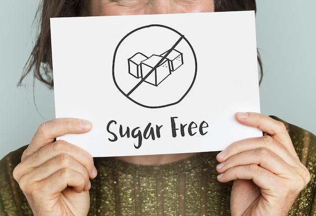 Concetto di stile di vita sano senza zucchero