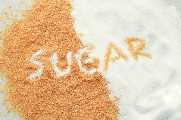 Scritte di zucchero sullo zucchero