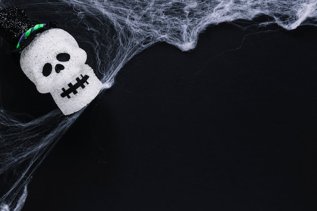 Sugar skull and web