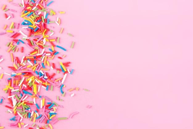 Сердечки посыпать сахаром, украшение для торта и выпечки, как поверхность