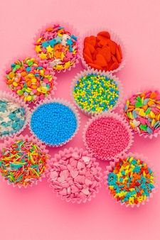 Sugar sprinkles, decoration for cake and ice-cream and cookies