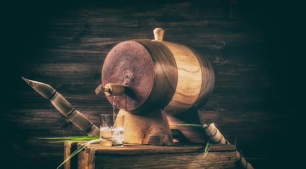 Sugarcane liquor (traditional brazilian cachaãƒâƒã'â§a). alcoholic beverage made from sugar cane
