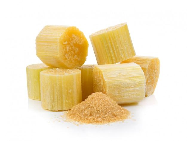 Sugarcane on white space