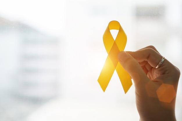 自殺予防と小児がん啓発 Premium写真