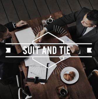 양복과 넥타이 정장 맞춤형 비즈니스