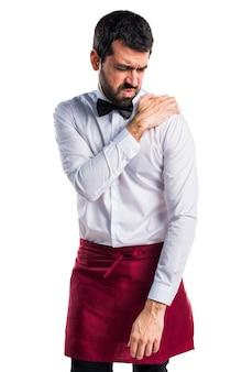 Suit suffer massage job shoulder