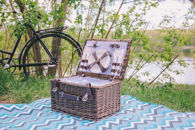 プレートとダイニングルーム付きピクニック用スーツケース