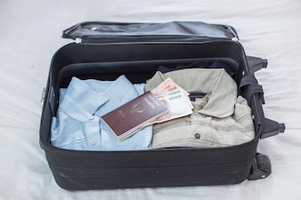 Suitcase with travel