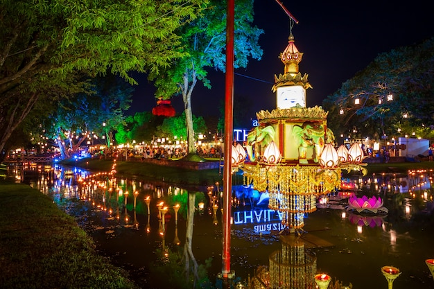 Sukhothai co lamplighter loy kratong festival at the sukhothai historical park covers