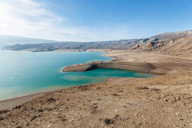 Sulak canyon. chirkeyskaya hpp. nature of the caucasus. dagestan, russia.
