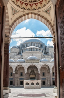 Suleymaniye mosque from the main entrance to the mosque.