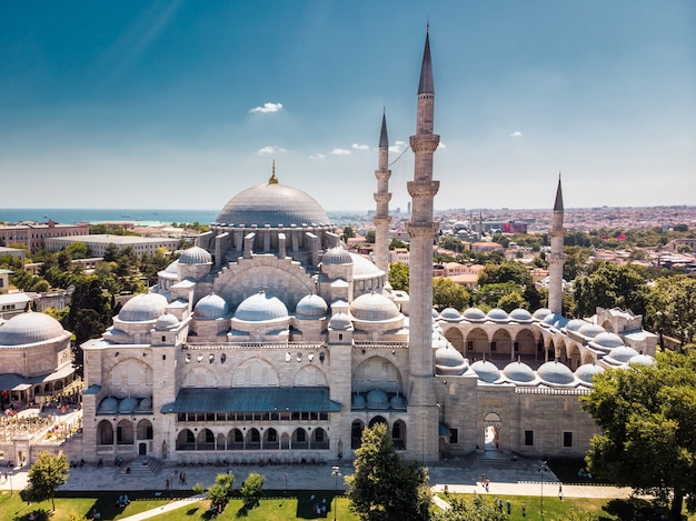 The suleymaniye mosque is an ottoman imperial mosque in istanbul
