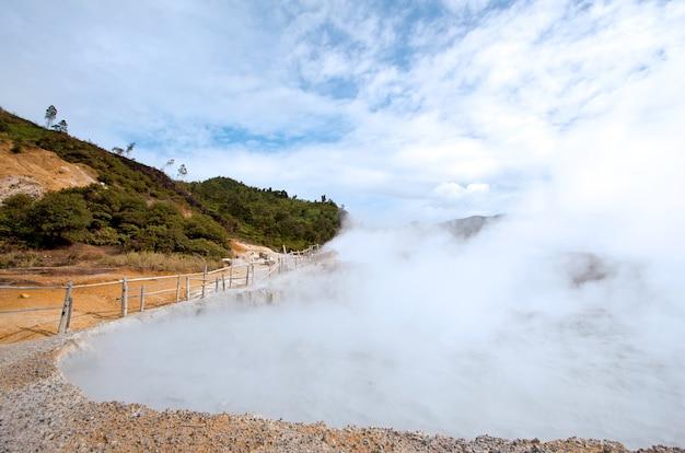 Sulfur pool indonesia