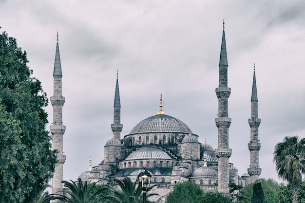 Sultan ahmed mosque or the blue mosque in istanbul