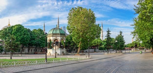 Sultan ahmed park in istanbul, turkey