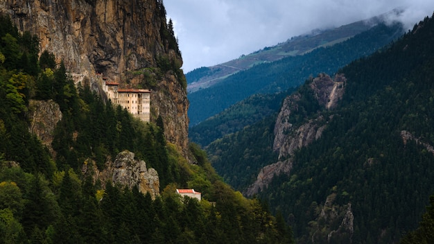 Sumela monastery one of the most impressive sights in the whole black sea region, in altindere valley, trabzon province, turkey.