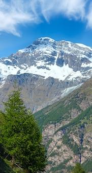 Summer alps mountain plateau, switzerland, near zermatt
