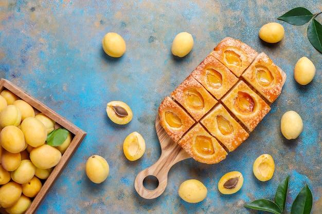 Летний абрикосовый пирог со свежими абрикосами