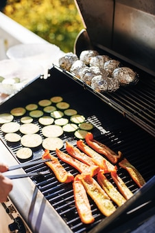 Summer barbecue grill vegetables
