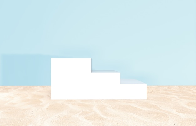 Summer beach backdrop for product display