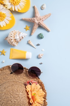 Summer beach background design concept
