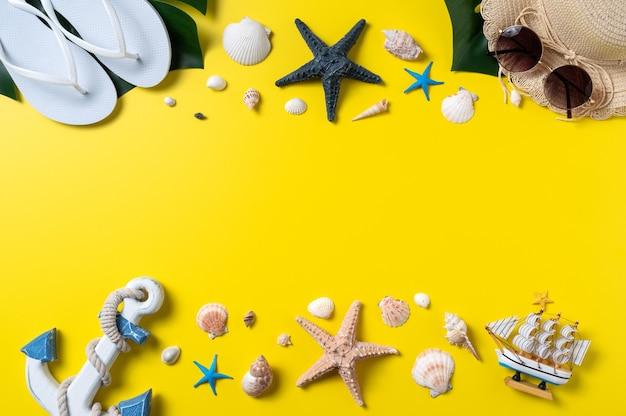 Summer beach design concept