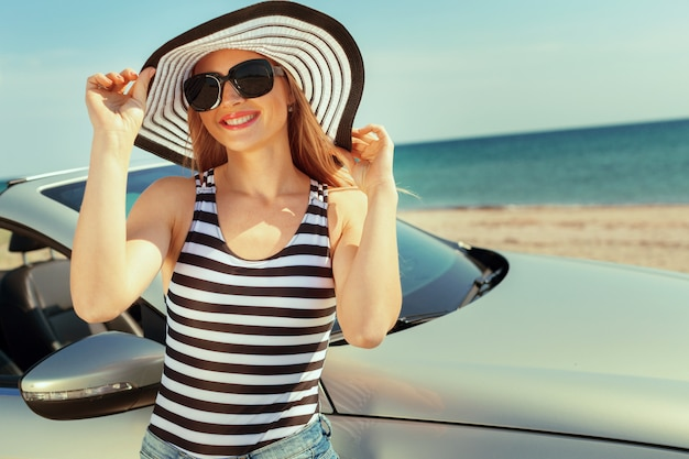 Summer car trip vacation