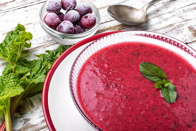 Summer cherry soup