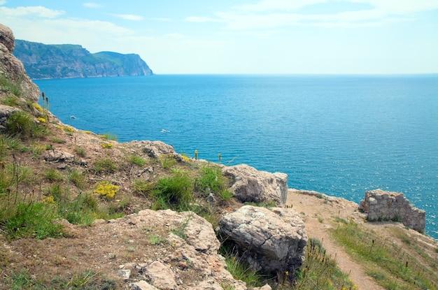 Summer coast view from balaclava