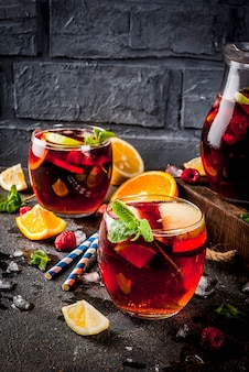 Summer cold cocktail