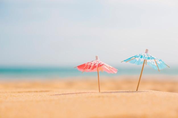 해변에서 여름 구성
