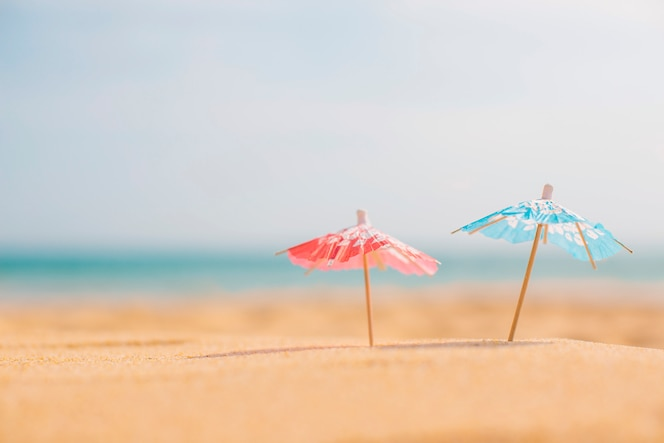 Summer composition at the beach