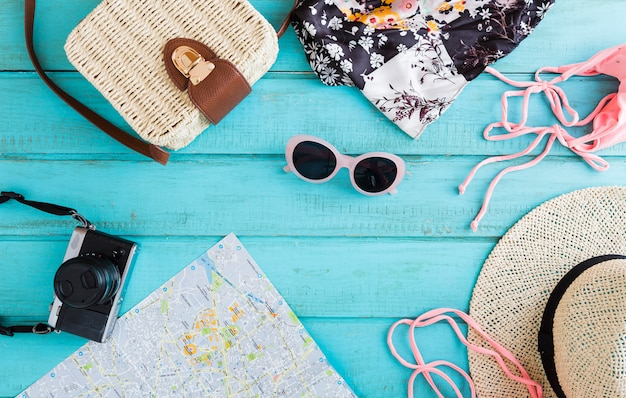 Summer composition of traveling things