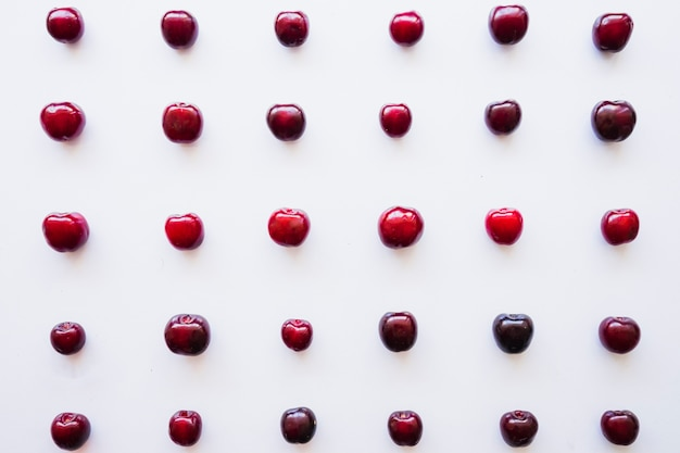 Summer composition with delicious cherries