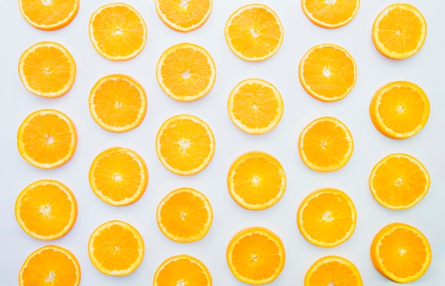 Summer composition with orange slices