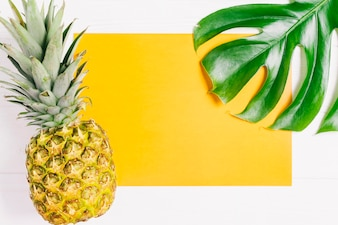 Summer composition with pineapple