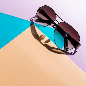 Summer concept with sunglasses