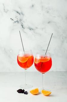 Летний вечерний напиток aperol spritz