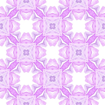 Summer exotic seamless border. purple unusual boho chic summer design. exotic seamless pattern. textile ready worthy print, swimwear fabric, wallpaper, wrapping.
