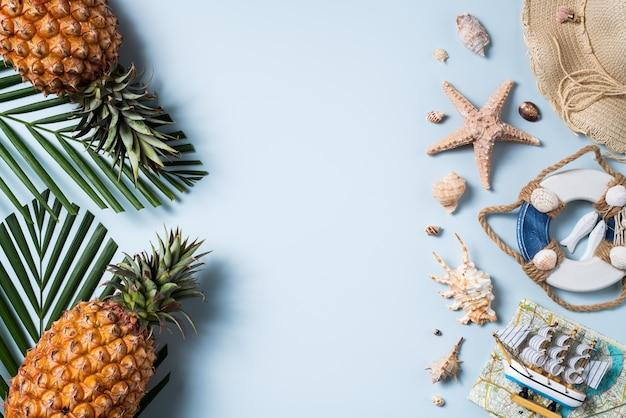 夏のフルーツ背景デザイン コンセプト
