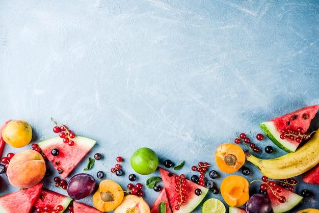 Summer fruit and berries assortment