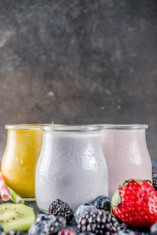 Summer fruits and berries smoothie