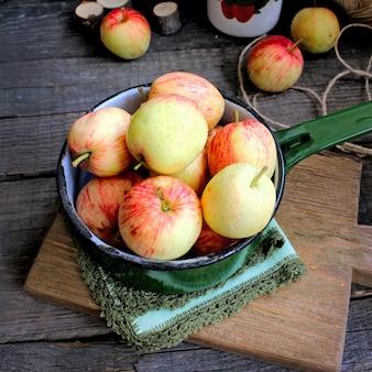 Summer garden apples mint