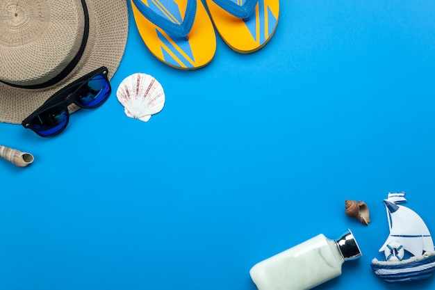 Summer holiday background concept.