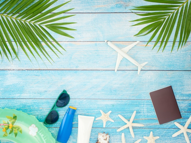 Summer holiday background. travel concept