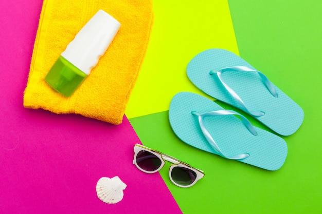 Summer holiday, beach accessories